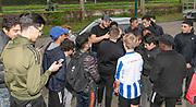 2019, April 17. IJFC, IJsselstein, The Netherlands. Youssef Koukouh at Creators FC - IJFC Legends.