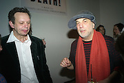 Tom Dixon and Ron Arad at the Swarovski Whitechapel Gallery Art Plus Opera, Whitechapel Gallery. An evening of art and opera raising funds for the Whitechapel Gallery. 77-82 Whitechapel High St. London E1 3BQ. 15 March 2012.