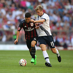 05.08.2015, Allianz Arena, Muenchen, GER, AUDI CUP, AC Milan vs Tottenham Hotspur, im Bild Eric Dier (Tottenham Hotspur #15) im Zweikampf gegen Jose Mauri (AC Mailand #4) // during the 2015 Audi Cup Match between AC Milan and Tottenham Hotspur at the Allianz Arena in Muenchen, Germany on 2015/08/05. EXPA Pictures © 2015, PhotoCredit: EXPA/ Eibner-Pressefoto/ Schüler<br /> <br /> *****ATTENTION - OUT of GER*****