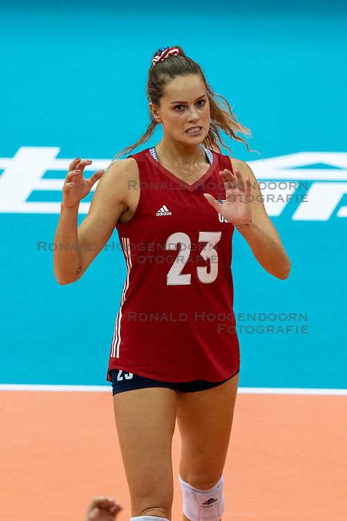 14-10-2018 JPN: World Championship Volleyball Women day 15, Nagoya<br /> China - United States of America 3-2 / Kelsey Robinson #23 of USA