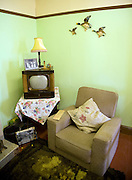 1950s front room, Museum of East Anglian Life, Stowmarket, Suffolk