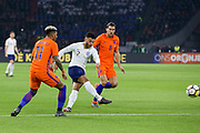 England midfielder Alex Oxlade-Chamberlain shoots at goal during the Friendly match between Netherlands and England at the Amsterdam Arena, Amsterdam, Netherlands on 23 March 2018. Picture by Phil Duncan.