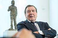 11 DEC 2019, HANNOVER/GERMANY:<br /> Gerhard Schroeder, SPD, Bundeskanzler a.D., waehrend einem Interview, im Buero seiner Anwaltskanzlei<br /> IMAGE: 20191211-01-003<br /> KEYWORDS: Gerhard Schröder, Büro