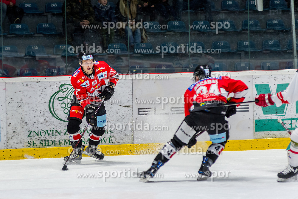 13.01.2019, Ice Rink, Znojmo, CZE, EBEL, HC Orli Znojmo vs HCB Suedtirol Alperia, 38. Runde, im Bild v.l. Marek Spacek (HC Orli Znojmo) Vladimir Oscadal (HC Orli Znojmo) // during the Erste Bank Eishockey League 38th round match between HC Orli Znojmo and HCB Suedtirol Alperia at the Ice Rink in Znojmo, Czechia on 2019/01/13. EXPA Pictures © 2019, PhotoCredit: EXPA/ Rostislav Pfeffer