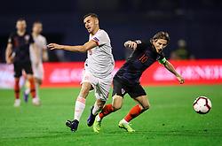 Dani Ceballos of Spain vs Luka Modric of Croatia during the UEFA Nations League football match between Croatia and Spain, on November 15, 2018, at the Maksimir Stadium in Zagreb, Croatia. Photo by Morgan Kristan / Sportida