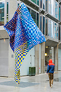 A site-specific 'Wind Sculpture' by internationally-renowned artist Yinka Shonibare, MBE. It is part of the award winning Howick Place in Victoria, London, UK, 7 April 2014.