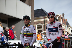 Lisa Klein (GER) of Cervélo-Bigla Cycling Team waits for the start of Stage 1b of the Healthy Ageing Tour - a 77.6 km road race, starting and finishing in Grijpskerk on April 5, 2017, in Groeningen, Netherlands.