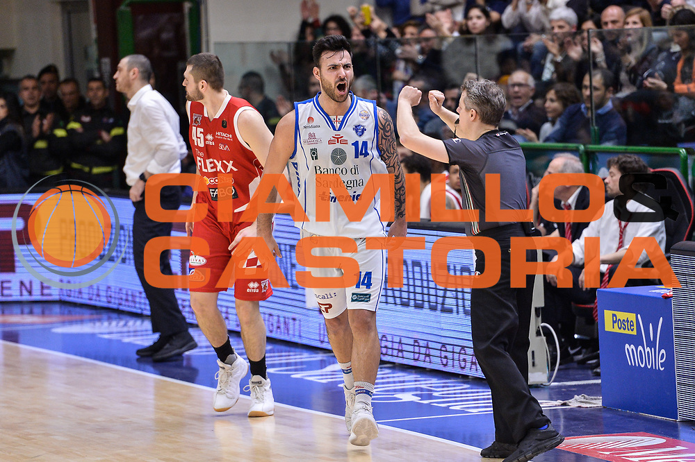 Brian Sacchetti<br /> Banco di Sardegna Dinamo Sassari - The Flexx Pistoia Basket<br /> Legabasket Serie A LBA Poste Mobile 2016/2017<br /> Sassari 04/03/2017