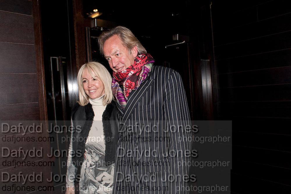 SALLY GREENE; NICHOLAS BARKER, Clybourne Park Press night. Opened at Wyndham's Theatre. Party afterwards at Mint Leaf, Haymarket, London. 8 February 2011.  -DO NOT ARCHIVE-© Copyright Photograph by Dafydd Jones. 248 Clapham Rd. London SW9 0PZ. Tel 0207 820 0771. www.dafjones.com.