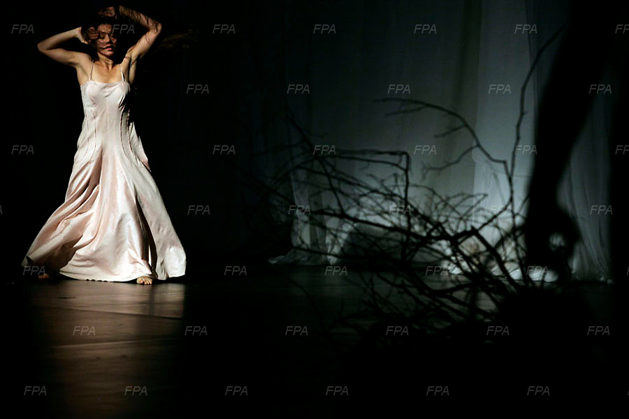 "Images of the last international show by Pina Bausch ""Bamboo Blues"" performing at her home town in Wupperthal, Germany..Her death comes as quite a shock at the age of 68, diagnosed with cancer just 5 days before her death on Tuesday 30th June 2009. Image © Angelos Giotopoulos/Falcon Photo Agency"