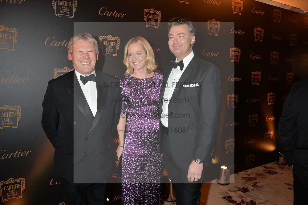 Left to right, CHARLES GORDON-WATSON, KATE REARDON and LAURENT FENIOU at the 26th Cartier Racing Awards held at The Dorchester, Park Lane, London on 8th November 2016.