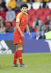 WANG Shanshan in action during the match of 2019 FIFA Women's World Cup France group B match between South Africa and China, at Parc Des Princes stadium on June 13, 2019 in Paris, France. Photo by Loic Baratoux/ABACAPRESS.COM