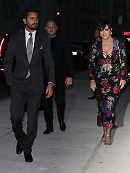Kris Jenner and Scott Disick arrive to Kendall Jenner award Show in NYC hand in hand. 08 Sep 2017 Pictured: Kris Jenner and Scott Disick arrive to Kendall Jenner award Show in NYC hand in hand. Photo credit: MEGA TheMegaAgency.com +1 888 505 6342