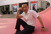 Zhang Ga, media artist and curator of Synthetic Times at NAMOC, Beijing. 06/2008