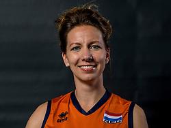 22-09-2017 NED: Portret zitvolleybalsters Oranje 2017-2018, Leersum<br /> Nederland bereidt zich voor op het komende EK zitvolleybal / Anke van der Blij - de Vos #9