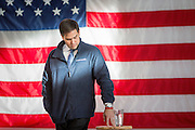 Presidential hopeful Senator Marco Rubio (R-FL) holds a town hall meeting at the Brownells Inc. factory in Grinnell in Iowa.