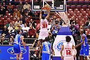 DESCRIZIONE : Milano Coppa Italia Final Eight 2014 Quarti di Finale EA7 Emporio Armani Milano Banco di Sardegna Sassari<br /> GIOCATORE : Gani Lawal<br /> CATEGORIA : Schiacciata Controcampo<br /> SQUADRA : EA7 Emporio Armani Milano<br /> EVENTO : Beko Coppa Italia Final Eight 2014<br /> GARA : EA7 Emporio Armani Milano Banco di Sardegna Sassari<br /> DATA : 07/02/2014<br /> SPORT : Pallacanestro<br /> AUTORE : Agenzia Ciamillo-Castoria/A.Scaroni<br /> Galleria : Lega Basket Final Eight Coppa Italia 2014<br /> Fotonotizia : Milano Coppa Italia Final Eight 2014 Quarti di Finale EA7 Emporio Armani Milano Banco di Sardegna Sassari<br /> Predefinita :
