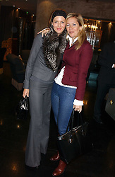 Left to right, TRINNY WOODALL and TANIA BRYER at the 1st Baglioni Hotel's Designer Lunch featuring designs by Amanda Wakelel held at The Baglioni Hotel, 60 Hyde Park gate, London on 1st February 2006.<br /><br />NON EXCLUSIVE - WORLD RIGHTS
