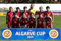 Fifa Womans World Cup Canada 2015 - Preview //<br /> Algarve Cup 2015 Tournament ( Vila Real San Antonio Sport Complex - Portugal ) - <br /> Germany vs China 2-0  -  China Team , from the left up :<br /> Liu Shanshan ,Wang Shanshan ,Li Ying ,Zhang Yue ,Zhao Rong ,Li Dongna // <br /> Han Peng ,Wu Haiyan ,Gu Yasha ,Ren Guixin ,Tan Ruyin