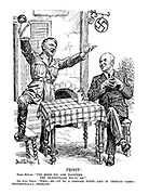 """PROSIT! Herr Hitler. """"The more we arm together the peacefuller we'll be!"""" Sir John Simon. """"Well - er - up to a certain point - and in certain cases - provisionally - perhaps."""""""