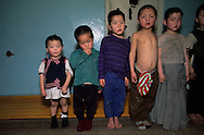 Mongolia. Ulaanbaatar. police shelter for street children living underground, because of the cold.. Visit of Albina Du Boisrouvray FXB  Oulan Bator    street children leaving in underground sewers and heating pipes, the only place where kids can survive in the winter temperature of -30º