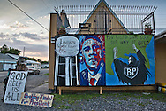 Anti BP mural  against BP along US Route 1 In Larose,  Louisiana.