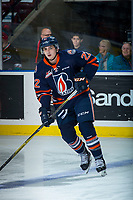 KELOWNA, CANADA - DECEMBER 27: Quinn Benjafield #22 of the Kamloops Blazers warms up against Kelowna Rockets on December 27, 2017 at Prospera Place in Kelowna, British Columbia, Canada.  (Photo by Marissa Baecker/Shoot the Breeze)  *** Local Caption ***