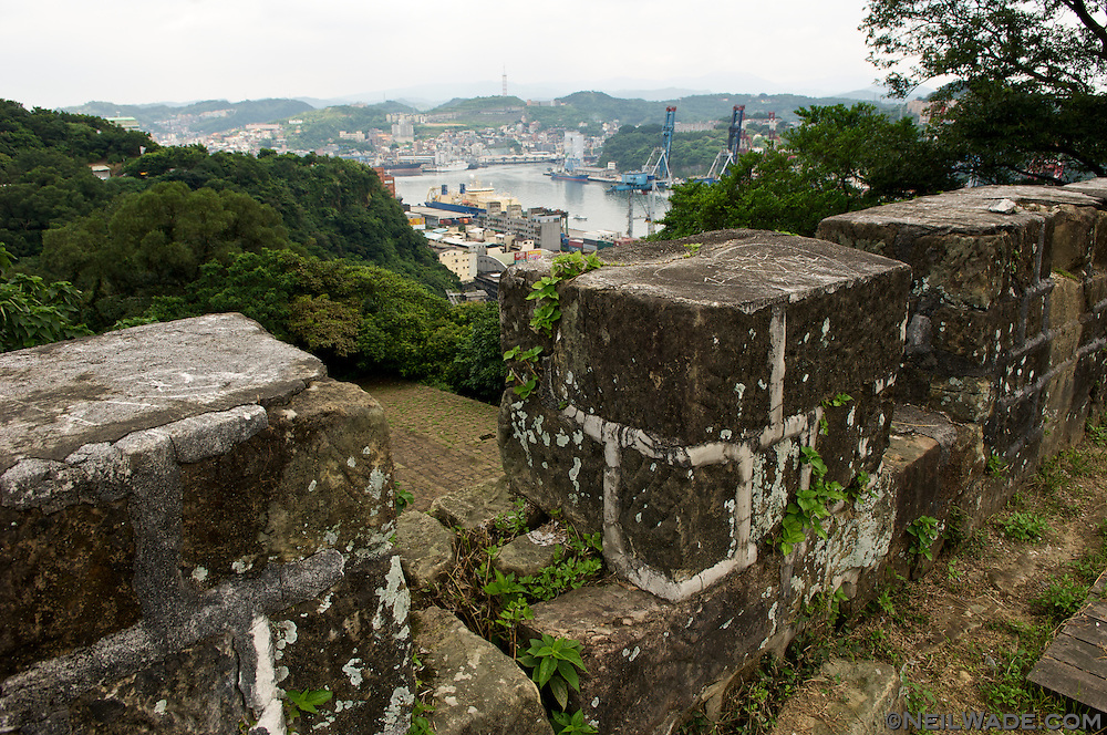 A view of Keelung Harbor from Ershawan Fort in Keelung, Taiwan.