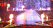 03.08.2014. Glasgow, Scotland. Glasgow Commonwealth Games. Closing Ceremony from Hampden Park. Kylie Minogue performs onstage withg Pyro