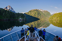 Mount Ada reflecting in Gut Bay at South Baranof Wilderness in Southeast Alaska.