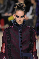 a Model presents the fashion of Sacai, Autumn Winter 2016, Ready to Wear, Paris Fashion Week. EXPA Pictures © 2016, PhotoCredit: EXPA/ Photoshot/ Digital Catwalk<br /> <br /> *****ATTENTION - for AUT, SLO, CRO, SRB, BIH, MAZ, SUI only*****