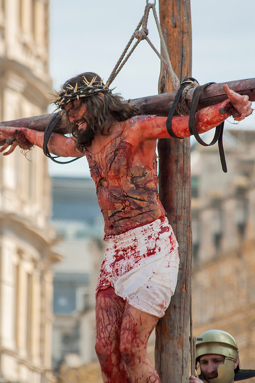 The Passion of Christ - An annual public showing of the Passion of Christ takes place in Trafalgar Square, London, every Good Friday.