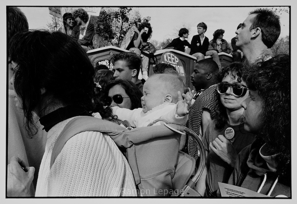 Anti war protesters against the Gulf War on Iraq. Boston, 1992..Abortion rights supporters rally in Washington, D.C. ..
