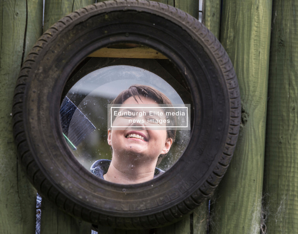 The Scottish Conservatives launch their manifesto for the Local Government elections on the 4th of May.<br /> <br /> The manifesto - entitled 'Localism for Growth' - will set out the party's plan to oppose a second referendum on independence, and reverse a decade of SNP centralisation.<br /> <br /> Pictured: Ruth Davidson at a community playground during the launch of the manifesto