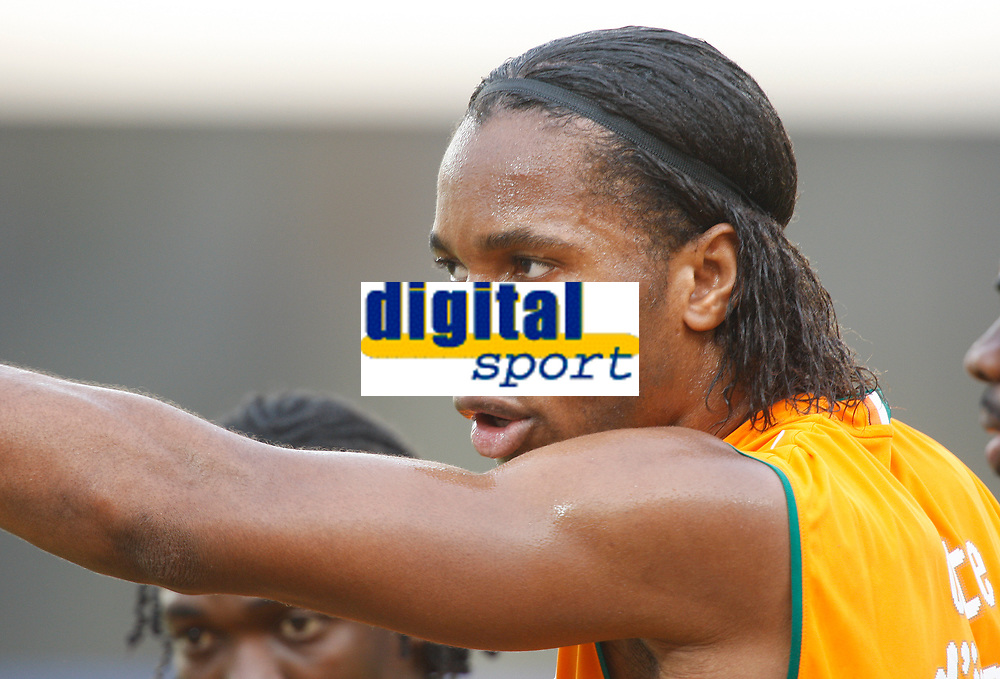 Photo: Steve Bond/Richard Lane Photography.<br />Nigeria v Ivory Coast. Africa Cup of Nations. 21/01/2008. Didier Drogba of Ivory Coast & Chelsea directs training