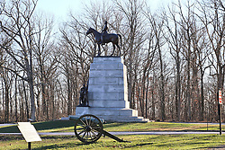 11.01.2016, Museum, Gettysburg, USA, Battle of Gettysburg, im Bild Eine Statue von General Robert E. Lee auf seinem Pferd am Virginia Memorial, Schlachtfeld von Gettysburg // View the historic site of the Battle of Gettysburg at Museum in Gettysburg, United States on 2016/01/11. EXPA Pictures © 2016, PhotoCredit: EXPA/ Eibner-Pressefoto/ Hundt<br /> <br /> *****ATTENTION - OUT of GER*****