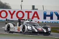 Romain Dumas (FRA) / Neel Jani (CHE) / Marc Lieb (DEU) #2 Porsche Team Porsche 919 Hybrid,  at Silverstone, Towcester, Northamptonshire, United Kingdom. April 15 2016. World Copyright Peter Taylor.