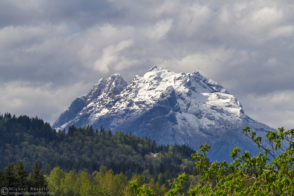 Mount Robbie Reid from the Durieu area of Hatzic Prairie northeast of Mission, British Columbia, Canada