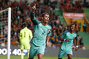 Portugal's Cristiano Ronaldo celebrates   pictured during the FIFA international friendly match between Portugal and Belgium as part of the preparation of the Belgian national soccer team prior to the UEFA EURO 2016  in Leiria, Portugal. joie