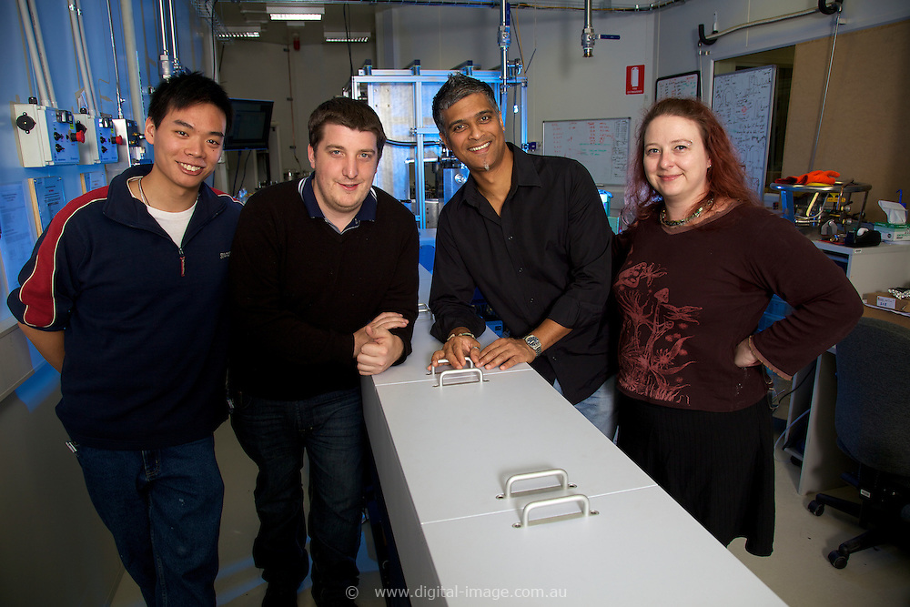 Infrared Beamline, Australian Synchrotron.   Group photo, Dr Dom Appadoo & staff