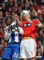 20120302: LISBON, PORTUGAL – Liga Zon Sagres 2011/2012: SL Benfica vs FC Porto. In Picture: Djalma (Porto) and Cardozo (Benfica). PHOTO: Alvaro Isidoro/CITYFILES