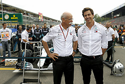 September 2, 2018 - Monza, Italy - Motorsports: FIA Formula One World Championship 2018, Grand Prix of Italy, .Dr. Dieter Zetsche (Chairman of the Board of Management of Daimler AG, Head of Mercedes-Benz Cars), Toto Wolff (AUT, Mercedes AMG Petronas Motorsport) (Credit Image: © Hoch Zwei via ZUMA Wire)