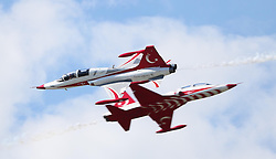 06.09.2015, Airbase, Rivolto, ITA, Payerne, Flugshow anlässlich des 55. Geburtstag der Frecce Tricolori, im Bild Turkish Stars // during the Airshow on the occasion of the 55th anniversary of the Frecce Tricolori at the Airbase in Rivolto, Italy on 2015/09/06. EXPA Pictures © 2015, PhotoCredit: EXPA/ Eibner-Pressefoto/ Neurohr<br /> <br /> *****ATTENTION - OUT of GER*****