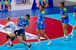 02-12-2019 JAP: Slovenia - Norway, Kumamoto<br /> Second day 24th IHF Women's Handball World Championship, Slovenia lost the second match against Norway with 20 - 36. Heidi Loke LØKE of Norway, Natasa Ljepoja #17 of Slovenia