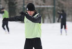 Damjan Bohar of ND Mura 05 exercise during the Training on February 22, 2013 in Fazanerija, Murska Sobota, Slovenia. (Photo By Ales Cipot / Sportida.com)