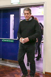 © Licensed to London News Pictures. 01/12/2019. London, UK. Actor and film producer, HUGH GRANT, arrives at Woodhouse College in Finchley, North London as he joins  Liberal Democrats' parliamentary candidate for Finchley & Golders Green, LUCIANA BERGER at a rally, to bid to stop a Conservative majority and Stop Brexit. Photo credit: Dinendra Haria/LNP