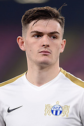February 21, 2019 - Naples, Naples, Italy - Toni Domgjoni of FC Zurich during the UEFA Europa League Round of 32 Second Leg match between SSC Napoli and FC Zurich at Stadio San Paolo Naples Italy on 21 February 2019. (Credit Image: © Franco Romano/NurPhoto via ZUMA Press)