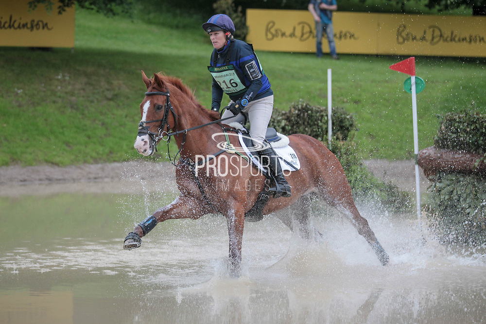 FERNHILL FACETIME ridden by Zara Tindall taking part in the Equitrek CCI*** cross country on day three of the Bramham International Horse Trials 2017 at Bramham Park, Bramham, United Kingdom on 11 June 2017. Photo by Mark P Doherty.