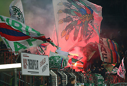 11.02.2018, BSFZ Arena, Maria Enzersdorf, AUT, 1. FBL, FC Flyeralarm Admira vs SK Rapid Wien, 22. Runde, im Bild Fans Rapid // during Austrian Bundesliga Football 22nd round match between FC Flyeralarm Admira vs SK Rapid Wien at the BSFZ Arena, Maria Enzersdorf, Austria on 2018/02/11. EXPA Pictures © 2018, PhotoCredit: EXPA/ Thomas Haumer