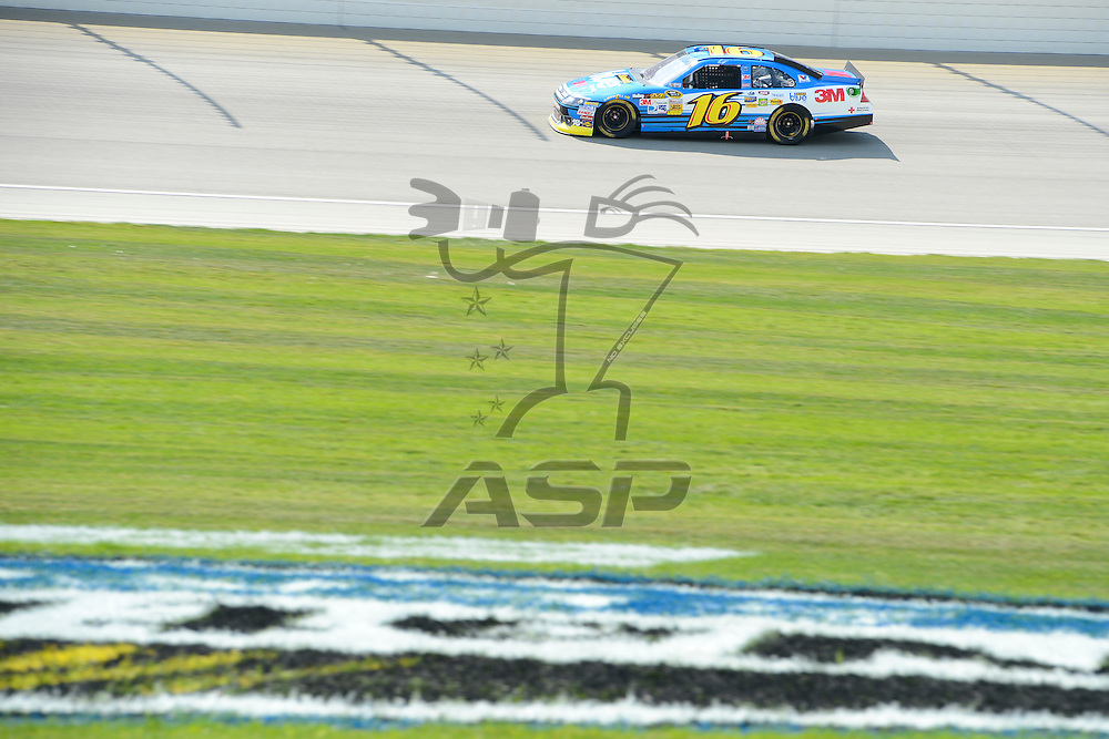 Joliet, IL - SEP 16, 2012: Greg Biffle (16) during the Geico 400 at the Chicagoland Speedway in Joliet, IL.